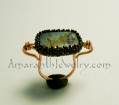 Custom Handmade Rings - Picasso Jasper and Copper
