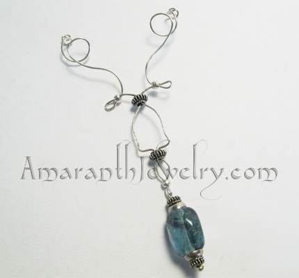 Original Handmade Jewellery - Signature Collection Silver and Rainbow Fluorite Pendant