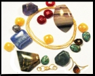 Sampling of semi-precious stones and materials used in Amaranth Jewelry