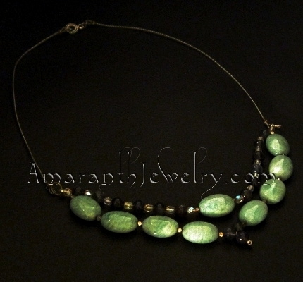 Handmade Necklaces - Amazonite and Iolite Necklace