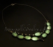 Original Handmade Necklaces - Amazonite and Iolite Silver Necklace