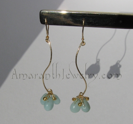 Charming Handmade Earrings - Amazonite Drop Earrings