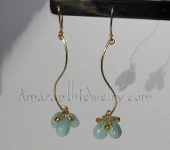 Handmade Earrings - Amazonite Drop Earrings