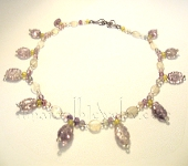 Original Handmade Necklaces - Carved Amethyst and Moonstone Necklace