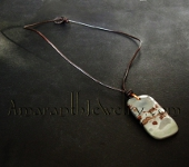 Original Handmade Leather Necklaces - Dendritic Jasper and Leather Necklace