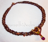 Mixed Semi-Precious Stones and Glass Beads Necklace