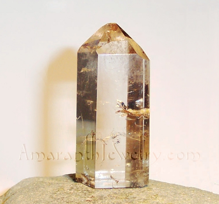 Amaranth Jewelry Collectible Rocks, Crystals, Minerals - Smoky Quartz Master Self-Healed Quartz Point