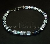 Original Handmade Jewelry - Grade A Quartz and Fluorite Necklace