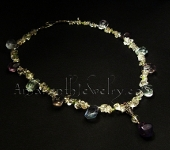 Original Handmade Necklaces - Top Grade Fluorite and Quartz